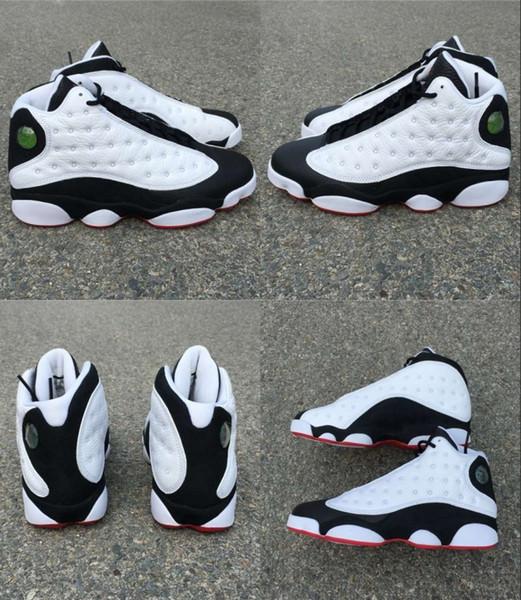 2018 Новые 13 он получил игру 13S 2022 черный белый Мужчины Женщины баскетбольная обувь кроссовки аутентичные реального углеродного волокна 414571-104