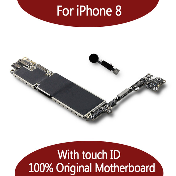 For iphone 8 64gb 128gb motherboard with fingerprint io   y tem for iphone 8 logic board mainboard with touch id