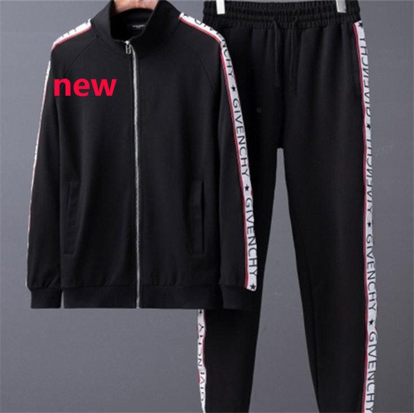 De igner track uirt fa hion brand men track uit new arrival port weat hirt ca ual autumn men zipper jacket and long pant m 3xl