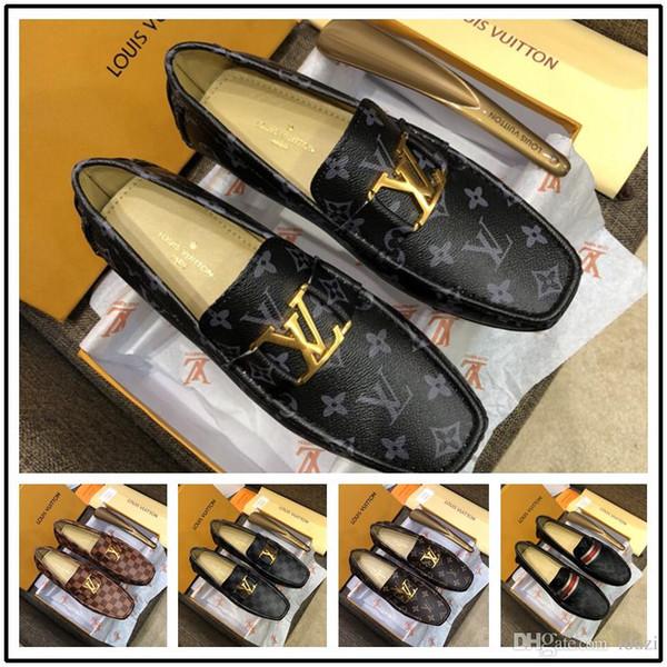 18ss Марка формальное платье обувь для нежных мужчин черный натуральная кожа обувь фото
