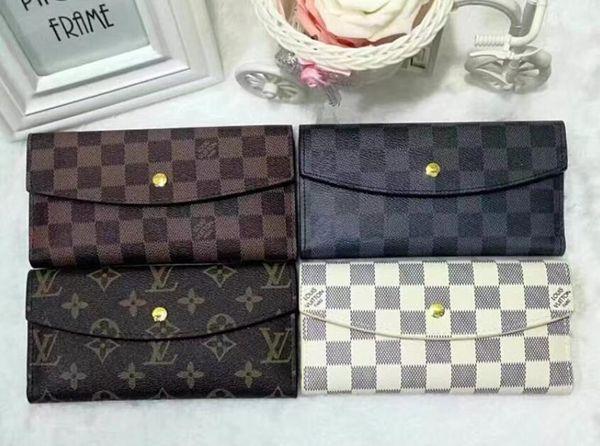 Wallet cla ic retro flap long wallet multicolor checkerboard clutch hipping