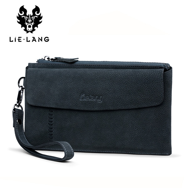men wallet luxury long clutch bag wristlet organizer wallets male moneybag genuine leather coin purse large men purse handy bag (426005946) photo