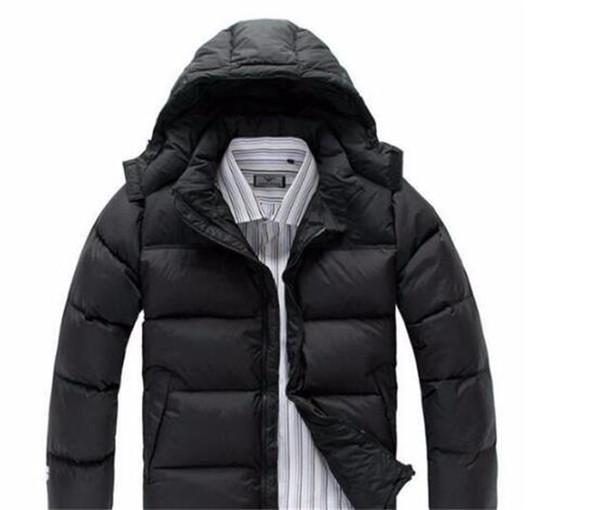 Горячая 2018 бесплатная доставка мужчин зимние пуховики на открытом воздухе согреться мода северный случайный холодный теплый толстый пуховик лицо мужчины
