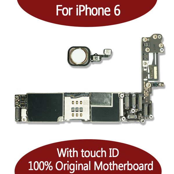 For iphone 6 6g motherboard 16gb 64gb logic board unlocked with touch id finger print 100  good working mainboard io