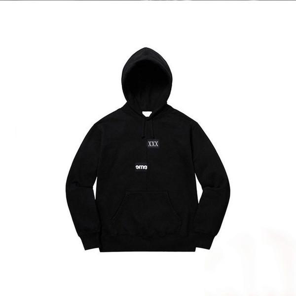 18fw plit box logo tee joint mi placed bogo hoodie high treet men women fa hion black and white hoodie hfbywy133