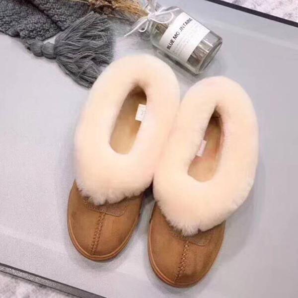 100% натуральная кожа Мех снега сапоги женщин Top Высокое качество Австралия Boots Winter