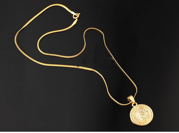 limited sale brand Top Quality Medusa Pendant Necklaces For Men 2017 Hot Hiphop Jewelry Gold Plated Luxury Accessories Free Shipping