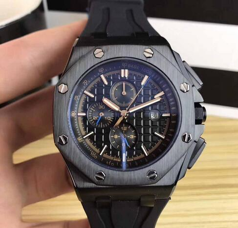 Luxury royal brand off hore 26401ro gold black tainle teel automatic mechanical rubber trap port men men watch watche