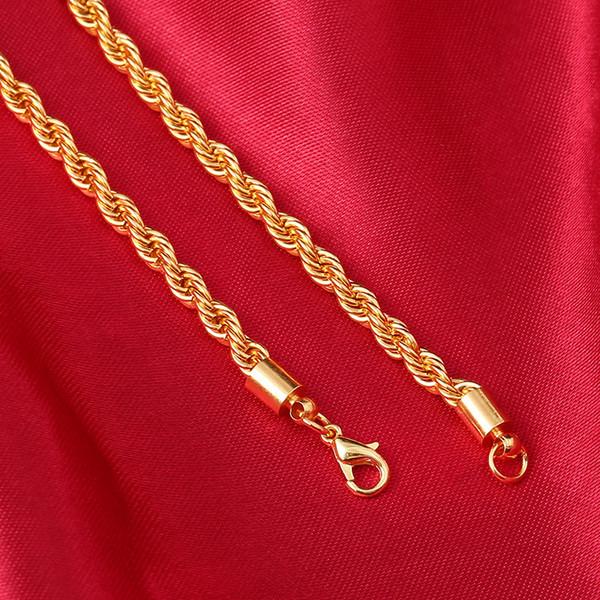Четыре разных размера та же цена 18K позолоченные цепи ожерелье ИУ ювелирный завод