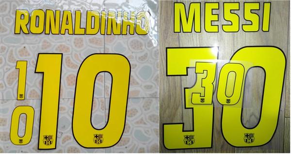 Ретро главная Роналдиньо #10 Месси #30 имя нумерация nameset футбол патч футбол значок фото