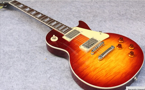 1959 r9 le  tiger flame paul electric guitar  tandard 59 electric guitar in  tock  hipping