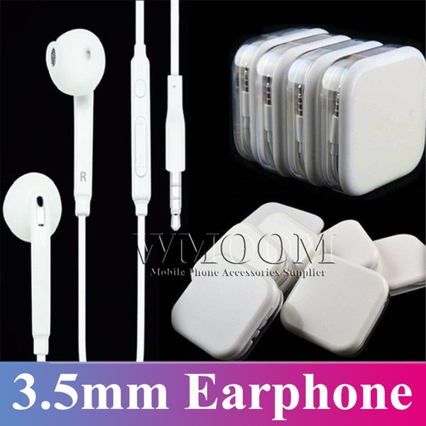 Whole ale 3 5mm earphone univer al colorful earbud  in ear  tereo headphone  with mic volume control earphone for  am ung  6  7  8 6plu  5