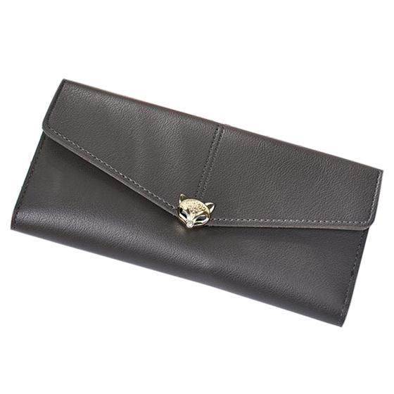 women fashion leather leisure clutch bag long purse (417414455) photo