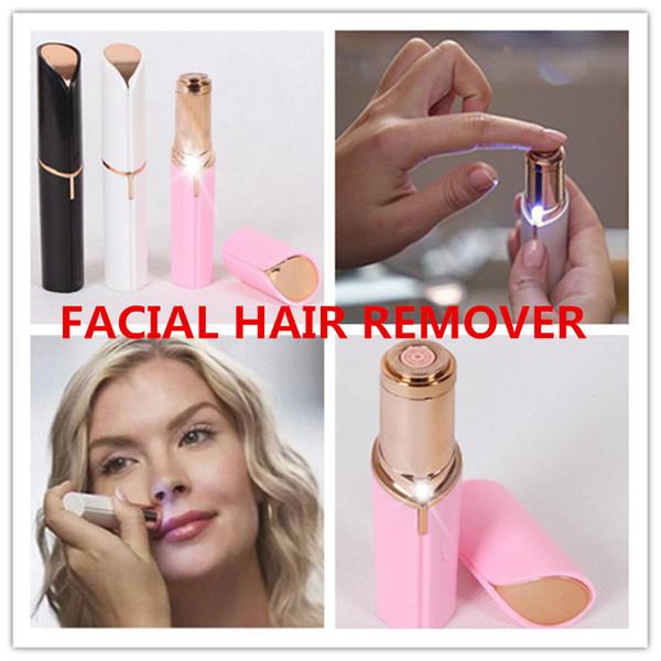 NEW Electric Shaver Razor Wax Flawles facial hair removal Women Lipstick portable mini Hair Remover Trimmer Machine Shaving Tool 1PCS