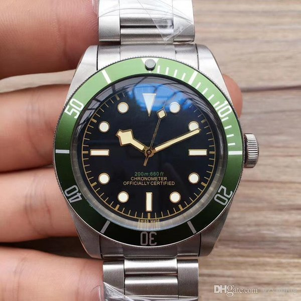 Wristwatches Black Bay Automatic Movment Stainless Steels Green Sport Men Mens Watch Watches (hang2013) St. Petersburg Search new