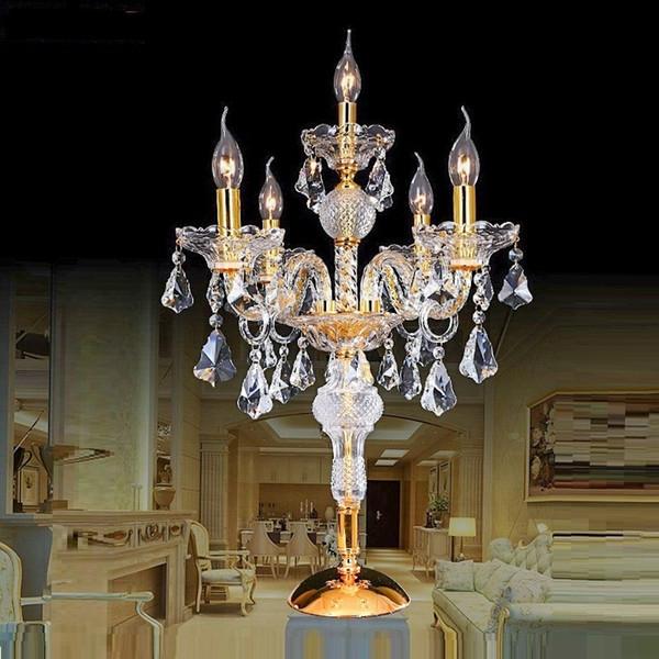 Современный Кристалл настольная лампа для гостиной рядом с кроватью роскошный Кристалл настольная лампа современный американский К9 роскошный Кристалл украшения лампы фото