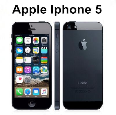 Original facotry unlocked apple iphone 5 mobile phone dual core 16gb 32gb 8mp camera 4 0  quot   creen wifi gp  refurbi hed cell phone
