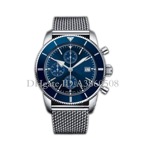 Luxury watch uperocean port chronograph quartz men watch tainle teel trap 46mm men 039 watche gift