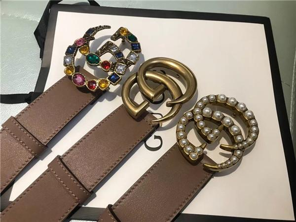 Fa hion triped double buckle men de igner f belt european tyle high brand wai tband real leather girdle with box 96321