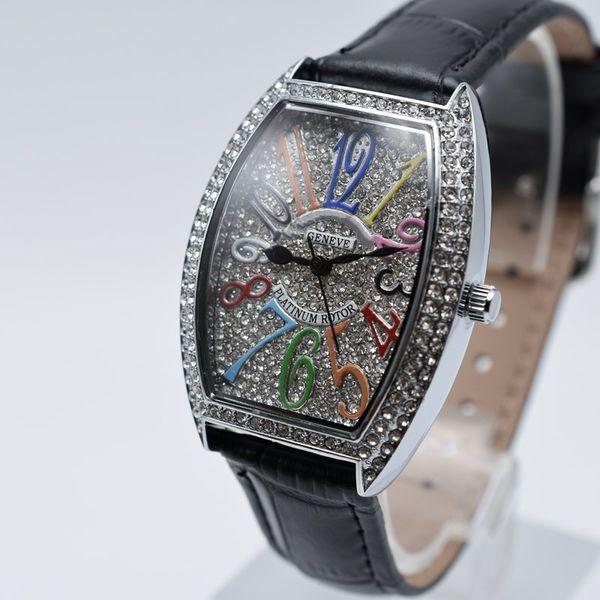 В продаже кварцевые кожаные модные женские бриллиантовые часы повседневная цифр фото