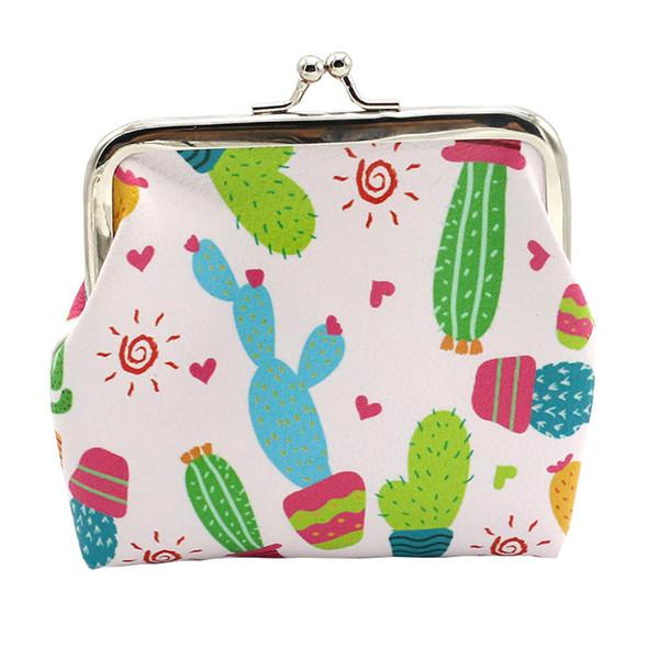 cartoon cactus purse women lady girl unique pattern coin purses money change pouch key holder bag (430999262) photo