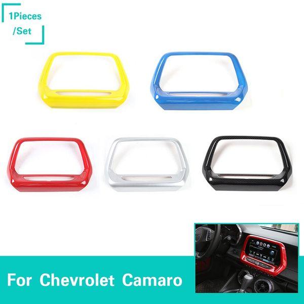 Car 8 0 inch navigation panel cover creen frame ab 5 color for chevrolet camaro 2017 auto interior acce orior