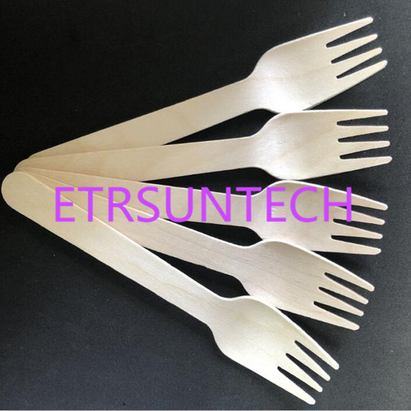 16cm wooden wood fork di po able biodegradable cutlery catering party bbq camping travel wedding birthday  upply qw7989