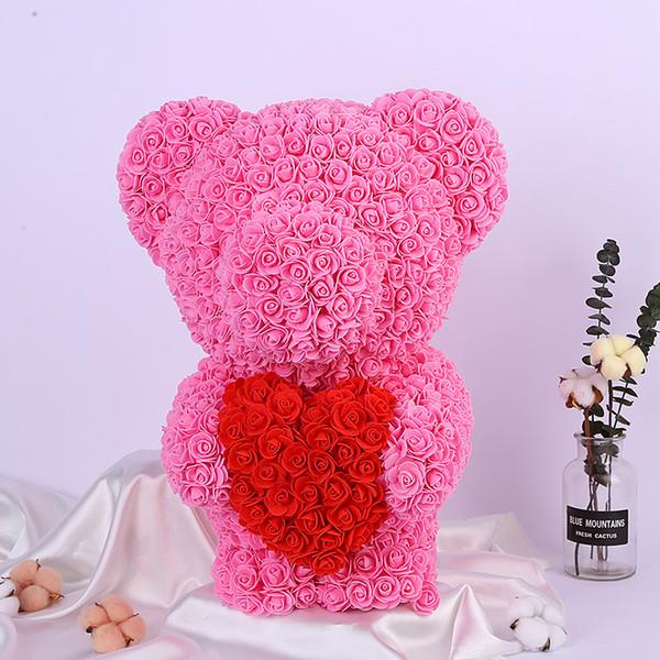 35 см Роза медведь цветок медведь плесень эмбрион пены roseonly медведь плесень пены п фото