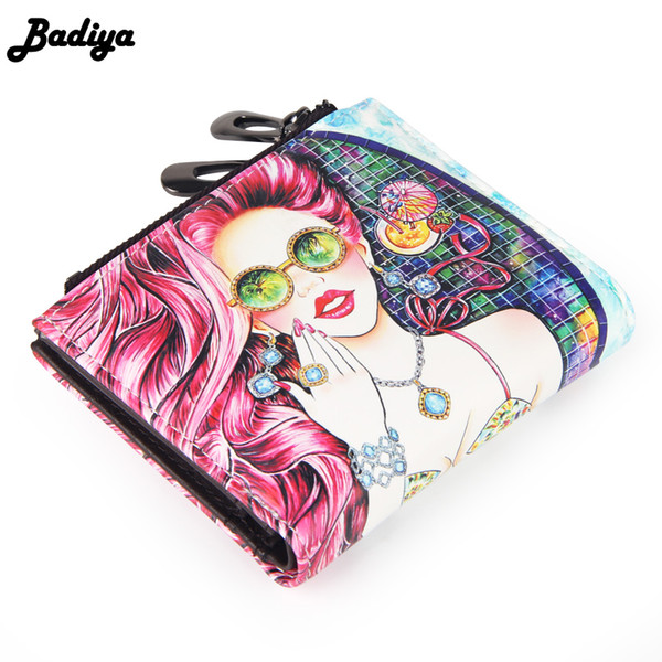 new design short wallet with cartoon pattern girl ladies clutch wallet mini purse handbag multifunction lady (409382986) photo