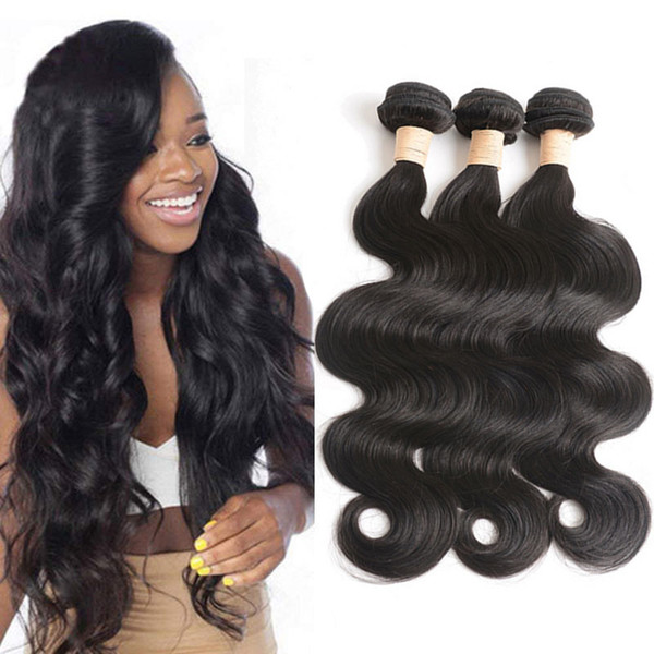 Malay ian 3 bundle long inch 30inch to 40 inch body wave malay ian virgin hair product whole ale natural color