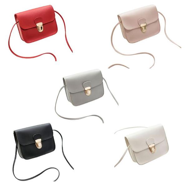 thinkthendo women pu leather small handbag satchel messenger crossbody shoulder bag purse girl mini shoulder bag purse (429667060) photo