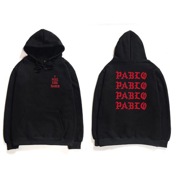 Hip Hop Hoodies Men I Feel Like Pablo Kanye West Streetwear Hoodie Sweatshirts Letter Print Hoodie Hoodie Club фото