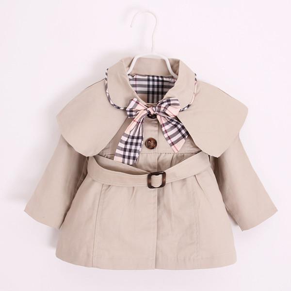 0-2Y новорожденных девочек пальто весна осень топы дети куртка верхняя одежда паль
