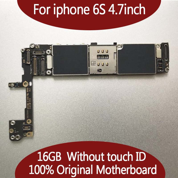 For iphone 6  original motherboard 16gb 64gb logic board unlocked no touch id 100  good working mainboard io   y tem card