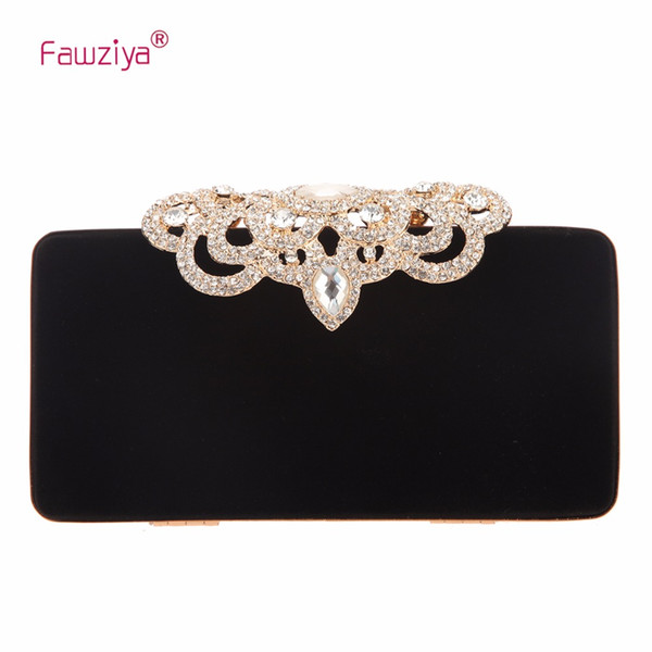 fawziya crown velvet evening clutch purses and handbags for women (424096831) photo