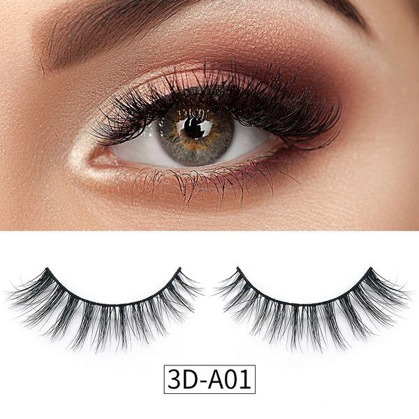 Real 3d mink eyela he natural long oft mink hair fal e eyela he for beauty makeup exten ion 3d mink eye la he
