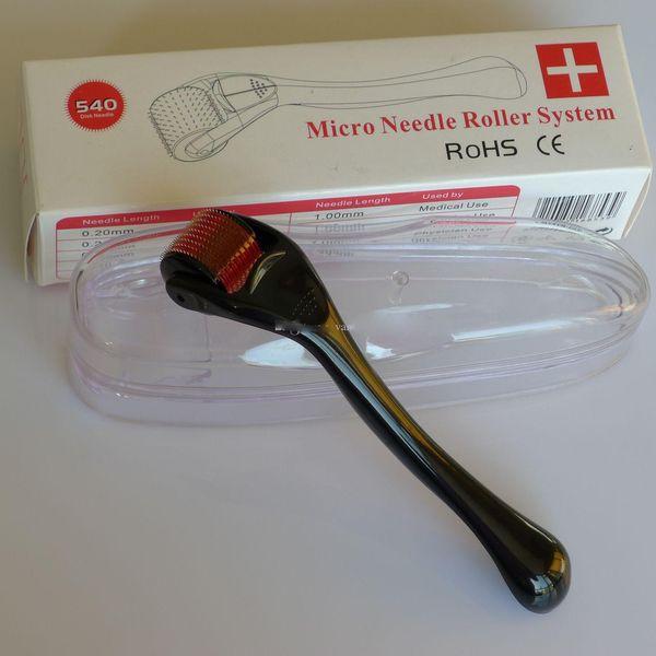 MRS 540 Titanium derma roller, ролик кожи, лицо ролик иглы Derma микро иглы кожи ролик дерматологи фото