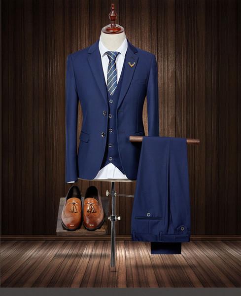 Custom Made Groom Tuxedos Light Grey Groomsmen Custom Made Side Vent Best Man Suit Wedding/Men Suits Bridegroom 3 Pieces(Jacket+Vest+Pants)