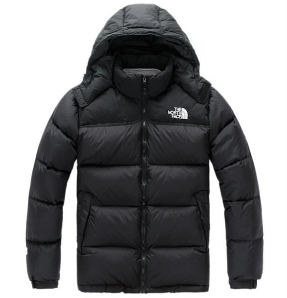 Горячая 2019 Бесплатная доставка мужчины зима пуховики на открытом воздухе согреться мода Север повседневная холодный теплый толстый пуховик лицо мужчины