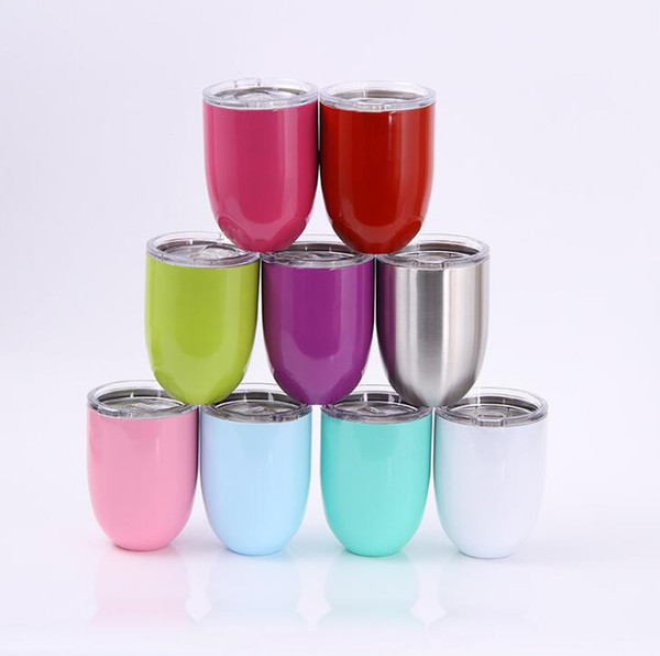 10oz egg cup wine gla e temle wine cup 304 tainle teel beer coffee mug double wall vacuum in ulated mug with clear lid