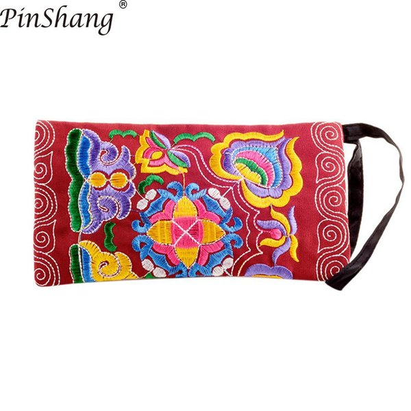 pinshang women handbag girl ethnic coin purse flower embroidery handbag zipper change bag bags for women 2018 zk50 (425399732) photo