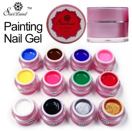 Краска гель очаровательный чистые цвета УФ LED ногтей живопись гель цвет для ногте фото