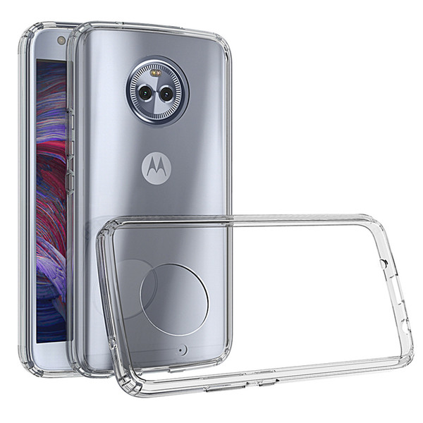 For moto x4 phone ca e ultra thin tran parent pc tpu anti  cratch ca e moto g4 play g4 plu  z force clear ca e