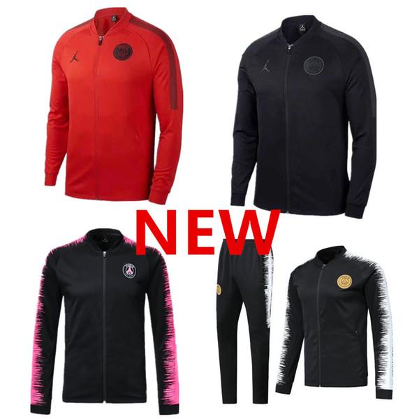 1819 jorda pari jacket track uit 20182019 p g occer jogging jacket mbappe di maria cavani verratti pari football jacket kit training uit