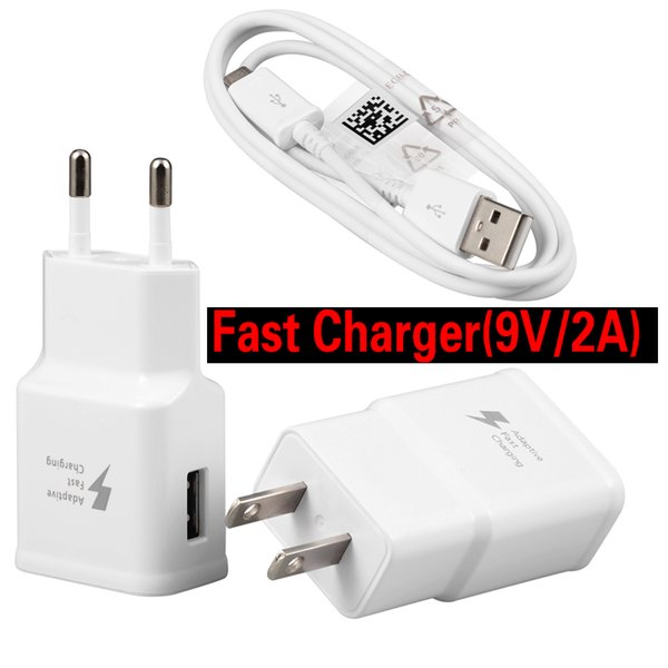 9v 1 67a quick wall fa t charger for  am ung  8  9 note 8 5v 2a travel charge for huawei xiaomi type c type c android cable