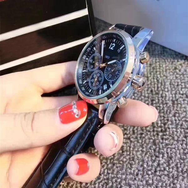 Высокое качество кварцевые часы для мужчин классический 1853 стили кожа маленькая фото