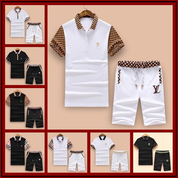 2018 Мода стильный дизайнер спортивный костюм мужчины роскошные спортивные костюмы Бегун костюмы куртка + брюки Марка Мужские спортивные костюмы Мужские Outercoat M-3XL