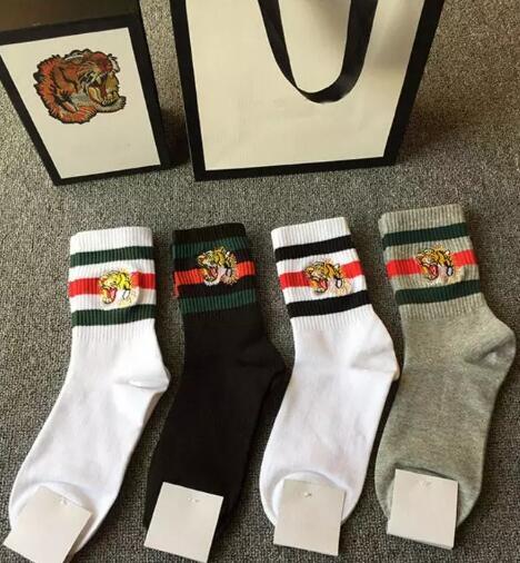 New Embroidery tiger head Socks stockings for Men And Women Fashion Designer Antibacterial Cotton Luxury Brand Unisex Long Sport Socks 5