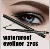 Whole ale 2pc lot women waterproof retractable rotary eyeliner pen eye liner pencil makeup co metic tool 131 0229 hipping