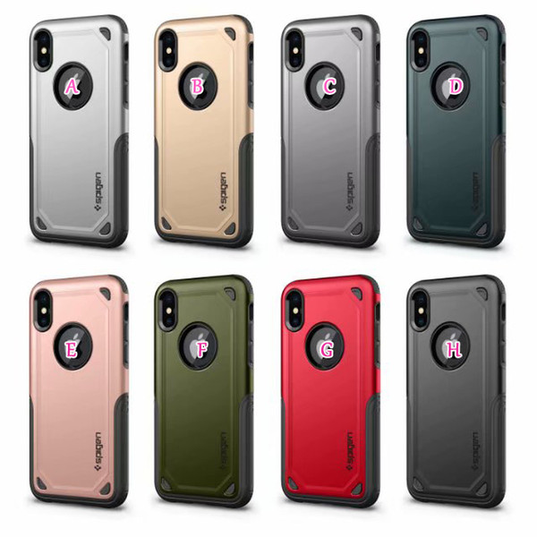 Sgp  pigen hybrid armor pc tpu ca e for iphone xr x  max x 10 8 7 plu  6  e 5 5  galaxy  10 lite note 9 8  9 luxury rugged dual phone cover
